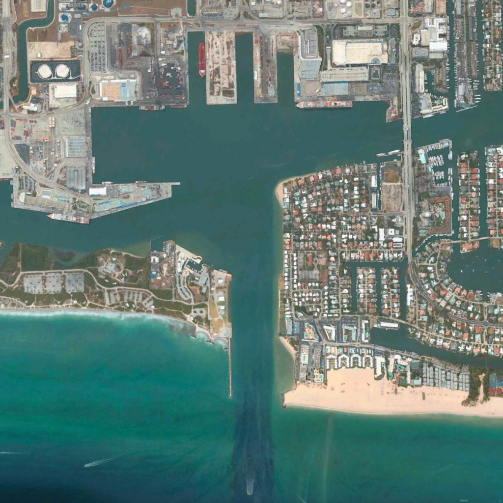 Aerial image of Port Everglades.